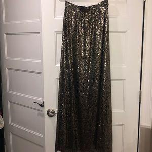 New sequin maxi skirt